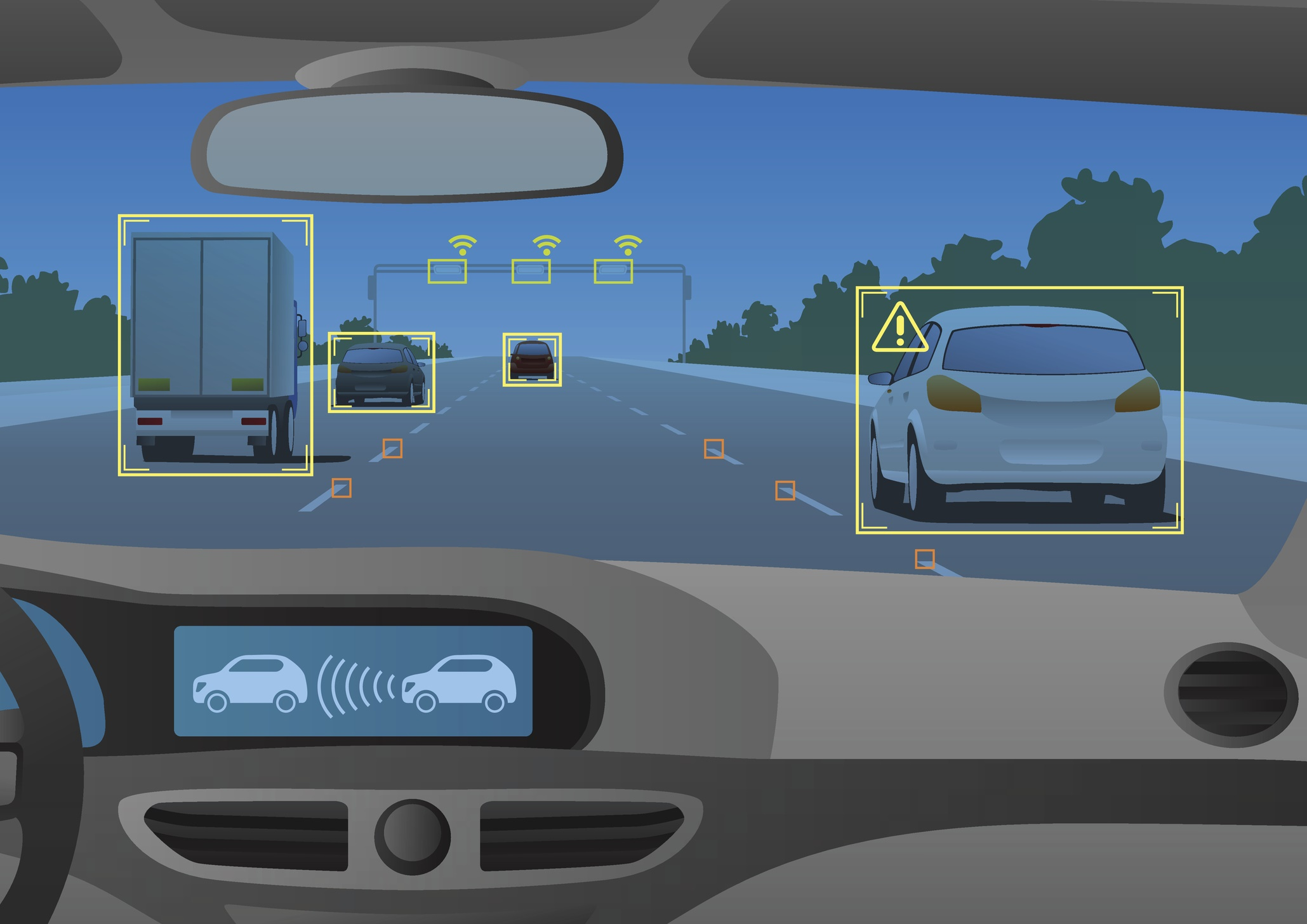 Head up display(HUD) and various information
