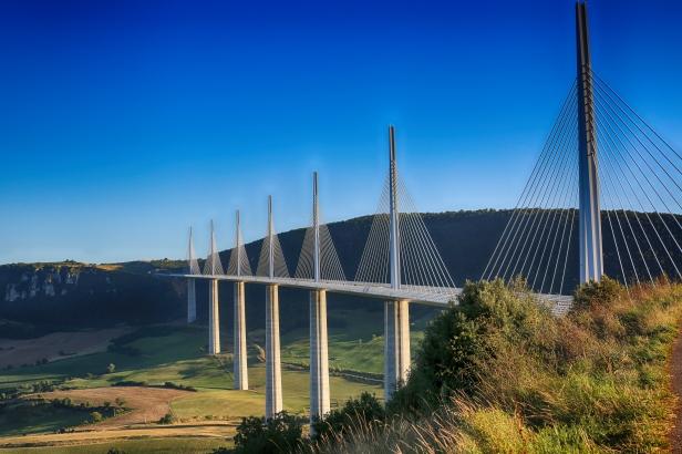 Millau Viaduct, Aveyron Deparement, France